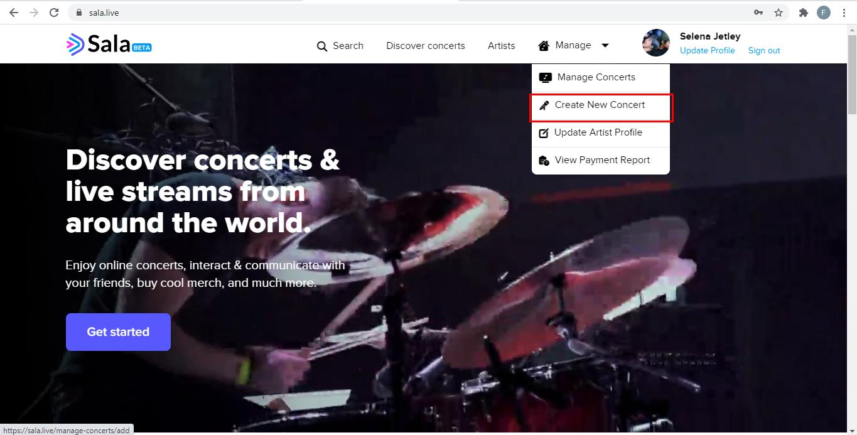 Create a Concert on Sala